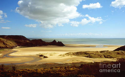 Photograph - Three Cliffs Bay On The Gower by Paul Cowan