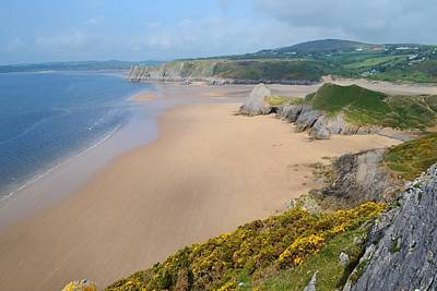 The Gower Photograph - Three Cliffs Bay by Paula J James