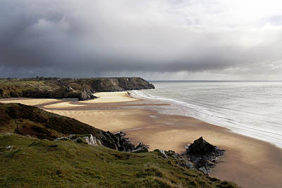Photograph - Three Cliffs Bay by Steve Ball