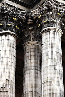 Photograph - Three Columns In Paris by John Rizzuto