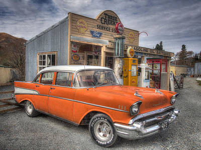 Photograph - Three Creeks Service Station by Kim Andelkovic
