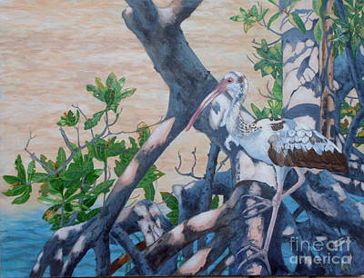 Sandra Williams Painting - Three Critters by Sandra Williams