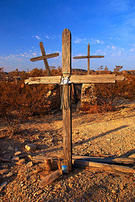 Photograph - Three Crosses At Terlingua by Daniel Woodrum