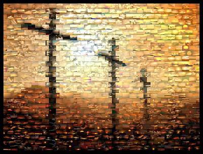 Pasta Al Dente - Three Crosses Mosaic by Paul Van Scott