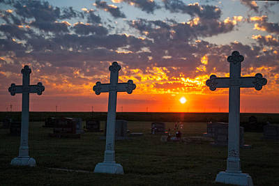 Photograph - Three Crosses by Shirley Heier