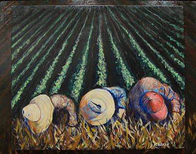 Painting - Three Cuban Field Hands by Kathryn Barry