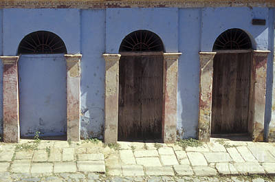 Photograph - Three Doors Copala Mexico by John  Mitchell