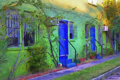 Inspired By Van Gogh Wall Art - Painting - Three Doors Down  by L Wright