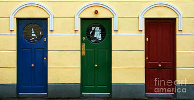 Photograph - Three Doors by PJ Boylan