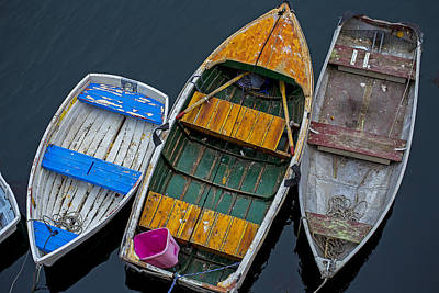 Watercraft Photograph - Three Empty Boats  by Garry Gay
