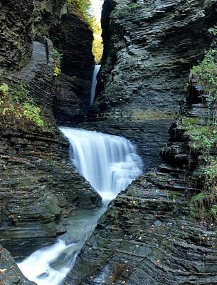 Photograph - Three Falls In Watkins Glen by Joshua House