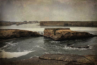 Textured Landscapes Digital Art - Three Fishermen by Laurie Search