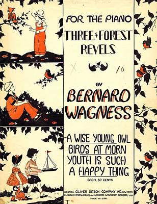 Three Forest Fevels Art Print by Mel Thompson