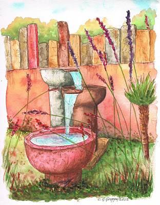 Three Fountains In Encino - California Original by Carlos G Groppa