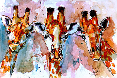 Macro Painting - Three Friends by Steven Ponsford