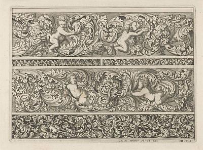 Three Friezes With Leaf Tendrils, Anthonie De Winter Art Print by Anthonie De Winter