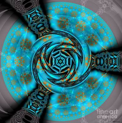 Concentration Digital Art - Three Gates To The Fractal Pool by Elizabeth McTaggart