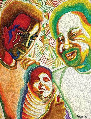Grandfather Mixed Media - Three Generations by Teleita Alusa
