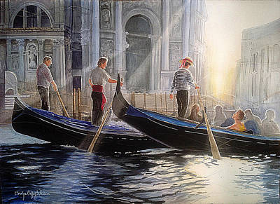 Painting - Three Gondoliers by Carolyn Coffey Wallace