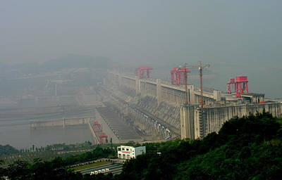 Photograph - Three Gorges Dam - Sandouping - China by Jacqueline M Lewis