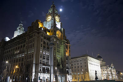 Three Graces At Night Print by Paul Madden
