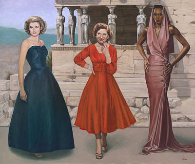 Grace Kelly Painting - Three Graces by Terry Guyer