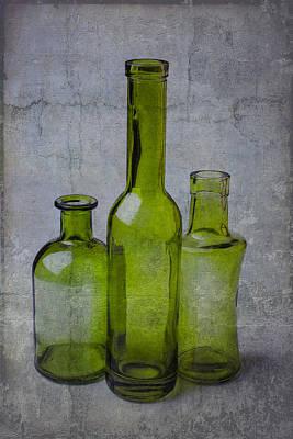 Three Green Bottles Art Print