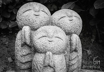 Photograph - Three Happy Buddhas II by Dean Harte
