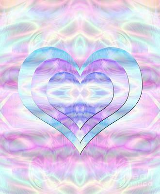 Digital Art - Three Hearts As One by Kristi Kruse