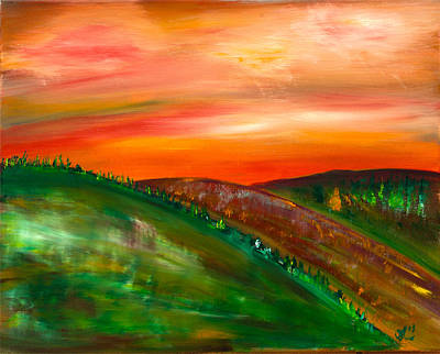Painting - Three Hills by James Bryron Love