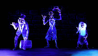 Painting - Three Hitchhiking Ghosts by Jennifer Hotai