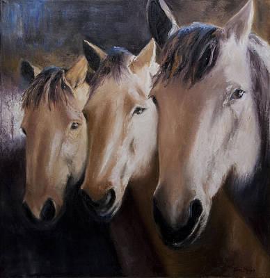 Three Horses Art Print by Terri  Meyer