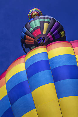 Wind Photograph - Three Hot Air Balloons by Garry Gay