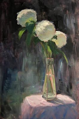 Painting - Three Hydrangeas by Timon Sloane