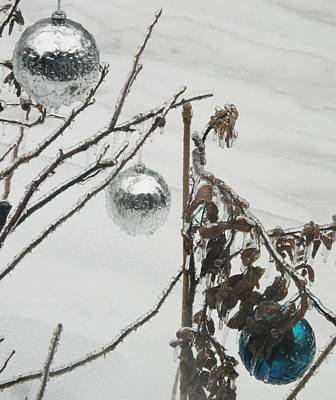 Photograph - Three Icy Bulbs by Ian  MacDonald