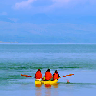 Photograph - Three In A Boat by Peter OReilly