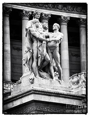 Male Nude Art Photograph - Three In Piazza Venezia by John Rizzuto