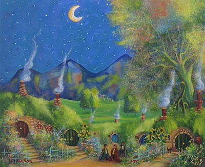 Three Is Company. A Starry Night In The Shire  Original by Joe  Gilronan