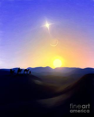 Painting - Three Kings Comet by Pet Serrano