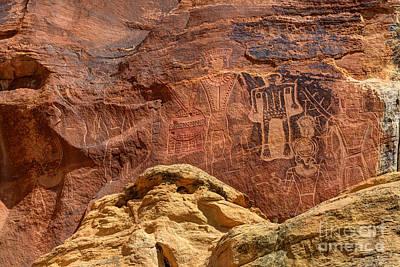 American Fork Canyon Photograph - Three Kings Petroglyph - Mcconkie Ranch - Utah by Gary Whitton