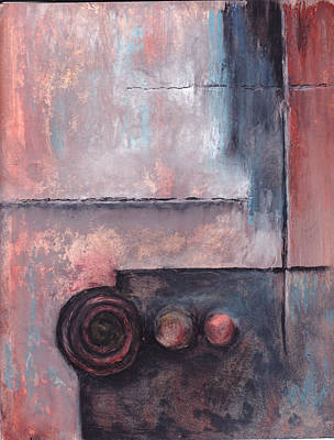 Art Print featuring the painting Three Knobs by Buck Buchheister