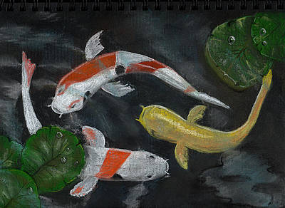 Painting - Three Koi by Dorothy Riley