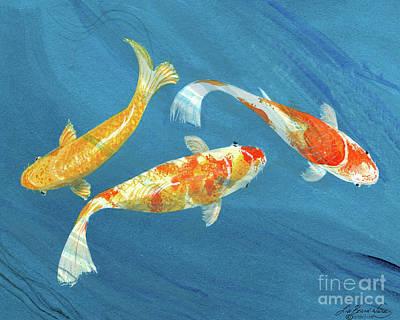 Painting - Three Koi by Lizi Beard-Ward