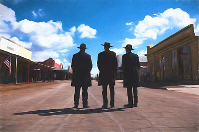 Photograph - Three Lawmen by Chris Bordeleau