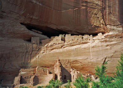 Photograph - Three Levels Of White House Ruins. Canyon De Chelly 1993 by Connie Fox