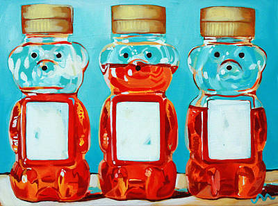 Three Little Bears Art Print by Jayne Morgan