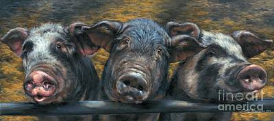 Three Little Piglets Original by Dina Perejogina