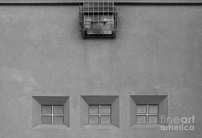 Photograph - Three Little Windows by Ethna Gillespie