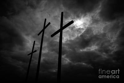 Three Lonely Crosses In The Mississippi Delta Art Print