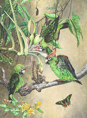 Three Loves - Print Art Print by Carole Niclasse